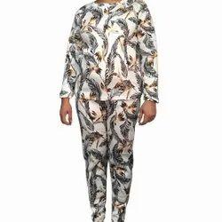 Ladies Printed Velvet Night Suit