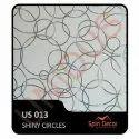 PVC Plastic Ceiling Tiles Shiny Circles US013
