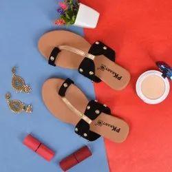 PK Kart Open Sandal Ladies Flat Sandals, Size: 36 - 40