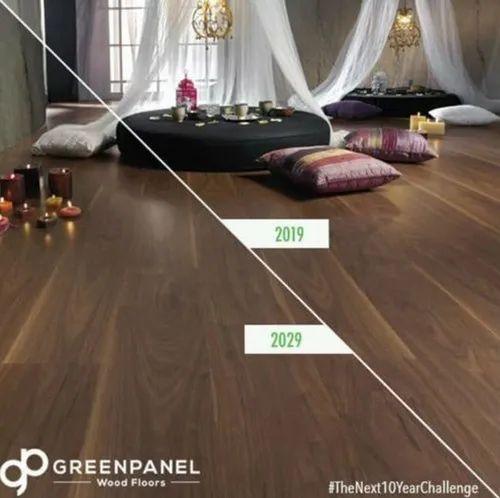 36 Shades Pre Laminated Green Panel, Green Laminate Flooring