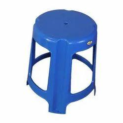 Neelkamal Blue 19 Inch Plastic Stool, Weight: 400 Gm