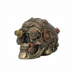 Funky Steampunk Skull Showpiece