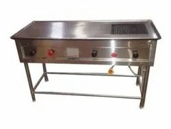Stainless Steel Chapati Plate Cum Buffer, For Commercial