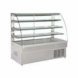 Pankti SS,Glass SS Food Display Counter, For Restaurant