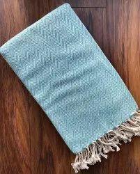 Cotton Light Blue Turkish Towel, Handwash, Size: 32 (w) X 40 (l) Inches