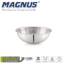 Magnus Triply Induction Tasla, 220mm, Silver, Steel - Aluminum - Steel TRI PLY Technology, 2.2 litre