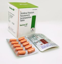 Diclofenac Potassium50mg Serratiopeptidase 10mg Paracetamol 325mg