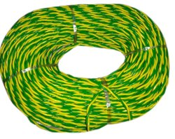 B.L. GRIPS Green And Yellow Twin Twisted PVC Insulated Flexible Wire
