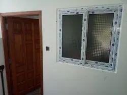 White LG Hausys UPVC Windows, Glass Thickness: 4mm