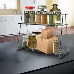 Stainless Steel Spice 2-Tier Trolley Container Organizer