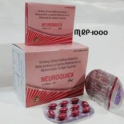 Methylcobalamin 500mcg + Ginseng + Lycopene 6% + Multivitamin With Multiminerals Soft Gel Capsules
