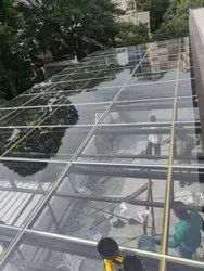 Glossy Transparent Plain Glass, For Office,Hotel Etc., Thickness: 13 Mm