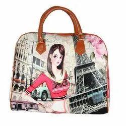 Pu Leather Digital Print Ladies Hand Bags, Capacity: 5 Kg