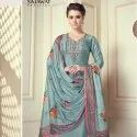 Pyore Viscose Stitched Embroidery Readymade Suit -5 Pcs Set