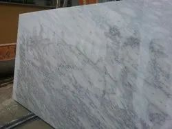 Polished Finish Slab White Carrara Marble, Application Area: Flooring, Thickness: 20 mm