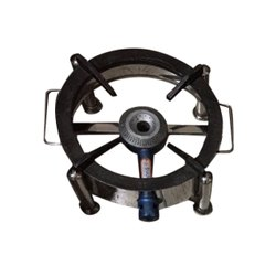 1 Round SS Commercial Single Burner Gas Stove
