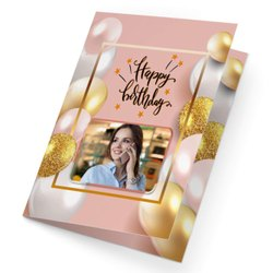 Birthday Invitation Card, Shape: Rectangular, Size: 8x4 Inch