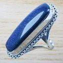 Natural Labradorite Gemstone Semi Precious Silver 925 Ring Wr-3409