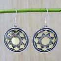 925 Sterling Silver Handmade Jewelry Natural Silver And Brass Earring SJWE-142