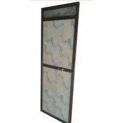 Polished Aluminum Bathroom Door