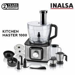 Grinding Inalsa Kitchen Master 1000-Watt Food Processor (Black/Silver)