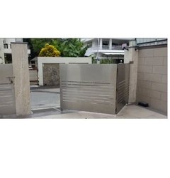 Mild Steel Polished Automatic Swing Folding Gate, For Commercial