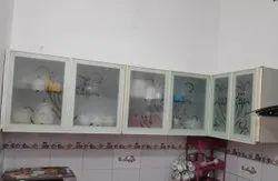 Powder Coated White Aluminium Kitchen Cabinet Door, Thickness: 4 Mm