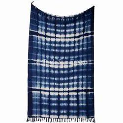 Ethnic Indigo Home Decor Cotton Throw Blanket Hand Loomed Luxuries Soft Bedding Throw