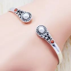 925 Sterling Silver New Fashion Jewelry Pearl Bangle WB-5899