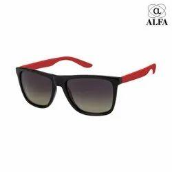 Regular Red Mens Fashion Sun Goggles, Size: Free
