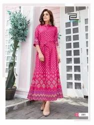 Long Gown Ladies Wear Rayon Kurti