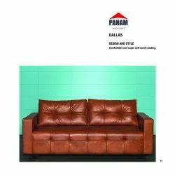 Panam Brown Dallas Three Seater Sofa