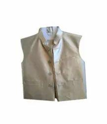 Khadi Silver Kids Gray Ethnic Wear Modi Jacket, Size: 5-6 Years