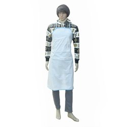 White Plain Smart Care Plastic Apron Premium Quality, For Kitchen