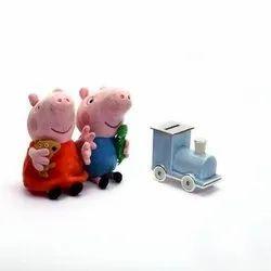 Colorful Engine Shaped Piggy Bank