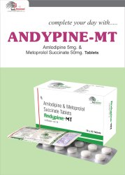 Metoprolol Tartrate 50mg ER  Amlodipine 5mg