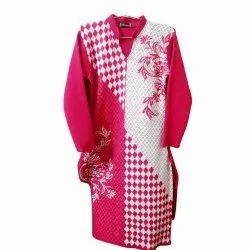 Casual Wear Straight Ladies Full Sleeves Woolen Kurti, Wash Care: Handwash