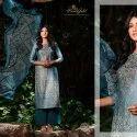 Jam Satin Digital Print With Embroidery Unstitched Suit -10 Pcs  Set
