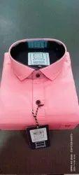 Spitzer Plain Men's Light Pink Cotton Shirt