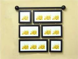 Brown Wooden Collage Photo Frame, For Home