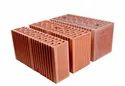 Natural Load Bearing Porotherm Hollow Fireclay Brick, Size: 400mmx150mmx200mm