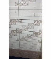 Glossy Rectangular 6 mm Ceramic Bathroom Tile, Size: 30 * 60 in cm