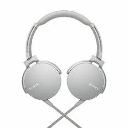 White Over The Head Sony MDR-XB550AP Wired Headphones