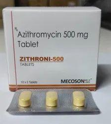 Zithroni-500 Azithromycin 500mg Tablet