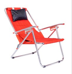 Red Mild Steel Patelraj Portable Folding Chair, For Home, 48x52x104 Cm