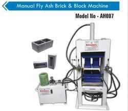 AH007 Manual Fly Ash Brick & Paver Block Making Machine