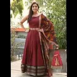 Ladies Cotton Kurti With Dupatta