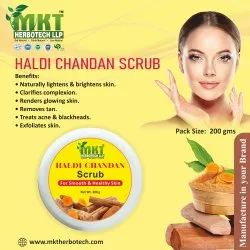 Cream Haldi Chandan Scrub, For Personal & Parlour, Packaging Size: 200 Gm