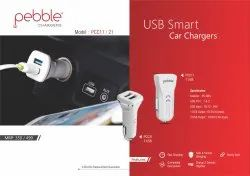 Pebble Dual Usb Car Adapter, Capacity: 2 Phones