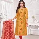 Embroidery Churidar Unstitched Dress Material - 12 Pcs Set